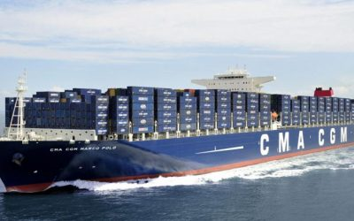 Ultra Large Container Ship aground in UK