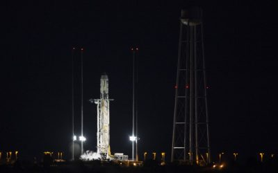 Sailboat stops Antares rocket launch