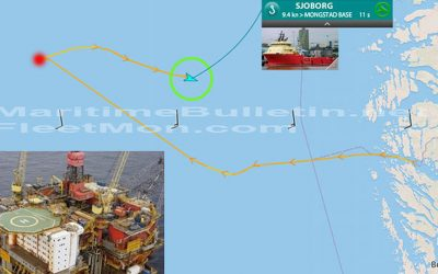 Offshore tug collided with oil platform, personnel evacuated
