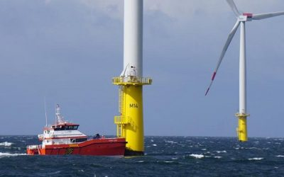 NJORD FORSETI collision with offshore wind turbine